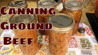 ~Home Canning Ground Beef With Linda's Pantry~