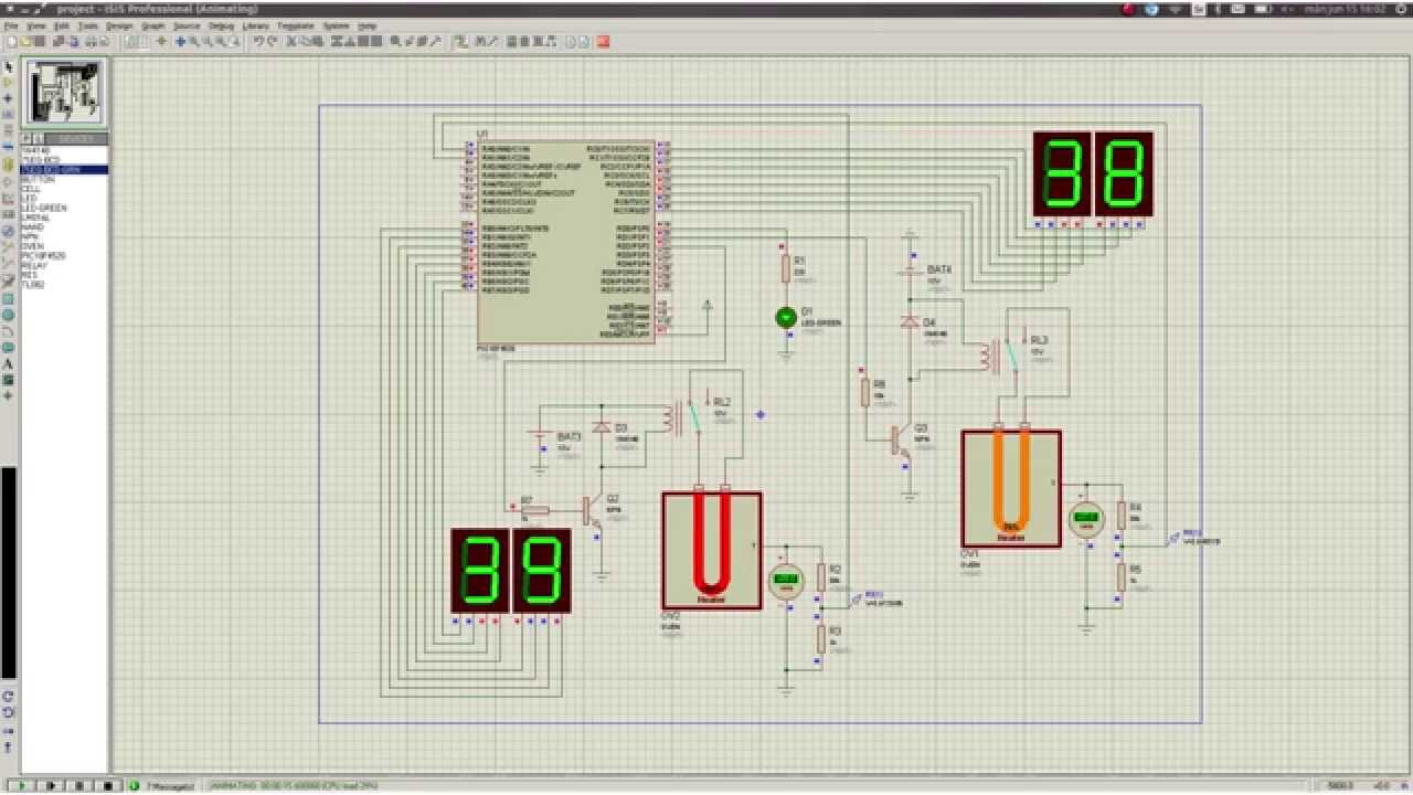 Proteus Simulation Of Pid Non Controlled Heate Youtube Free Schematic Diagram Thermostat Circuit Using Lm358