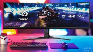 "The links to purchase are down here | 5 ► asus rog strix xg49vq 49"" curved gaming freesync monitor ●amazon united states: https://amzn.to/2mrdgry can..."