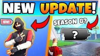 Fortnite Update: * NEW * Iconic SKIN + SEASON 8 Stuff! -6 New Things in Battle Royale!