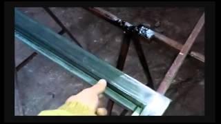 видео Распашные ворота из профнастила