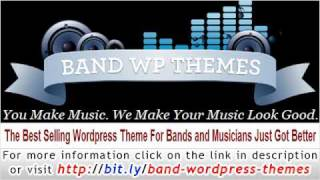 Band WordPress Theme - The ultimate Wordpress Theme for bands.