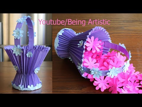How To Make  A Paper Basket -  DIY - Paper Craft
