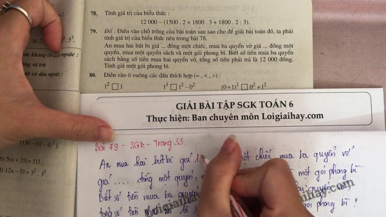 Giải bài 79 trang 33 SGK toán 6 tập 1