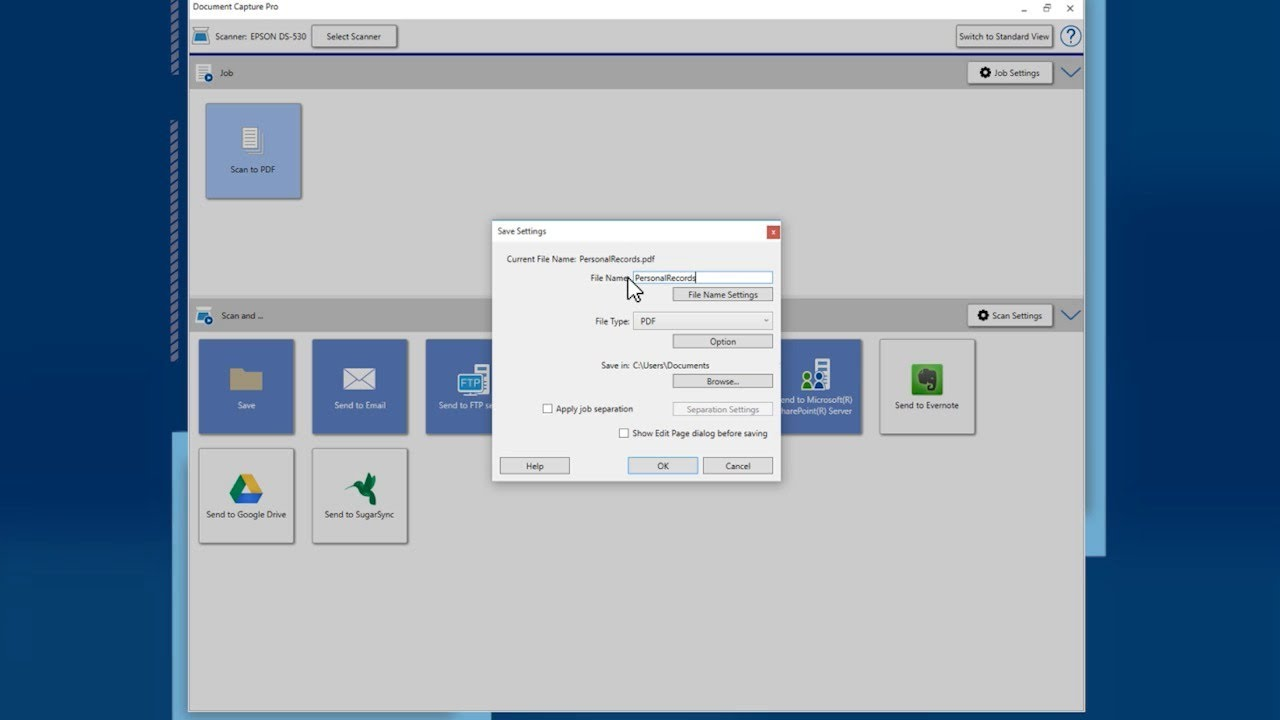 Epson Document Capture Pro: #2 Creating Searchable PDFs