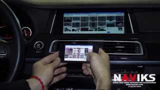 BMW 7 Series F01 2013 NAVIKS Video Integration Interface Apple TV + iPhone 5