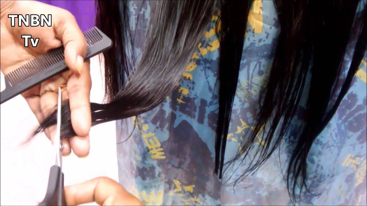 how to cut u shape hair at home