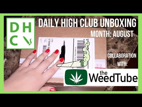 Daily High Club Unboxing August collaboration with The Weed Tube