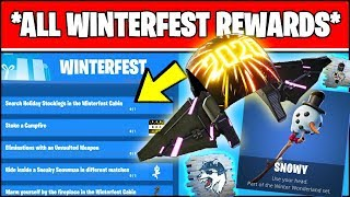 *ALL* Fortnite WINTERFEST FREE REWARDS & CHALLENGES LOCATIONS (Fortnite 14 Days Of Christmas 2019)