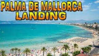 Landing in Palma de Mallorca Son Sant Joan Airport 4K
