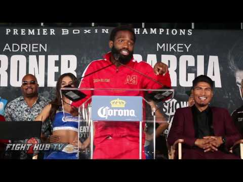 "Thumbnail: Adrien Broner Tells Mikey Garcia ""You Ain't No Maidana"" says This Motherfucker Ain't gonna beat me"