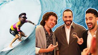 Conocimos al presidente más cool del mundo! EL SALVADOR PARAÍSO DEL SURF