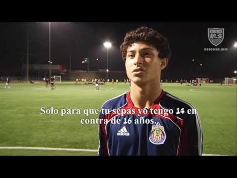Entrevista con Joshua Perez durante entrenamiento con la academia de U.S. Soccer 19/07/2012