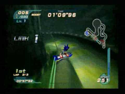 Sonic Riders - Sonic in the Green Cave Race
