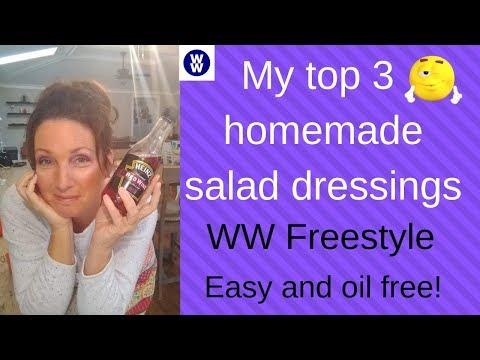 Housemade Salad Dressing Zero Points*WW Freestyle*Easy To Make!
