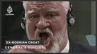 Ex-Bosnian Croat general's suicide under investigation