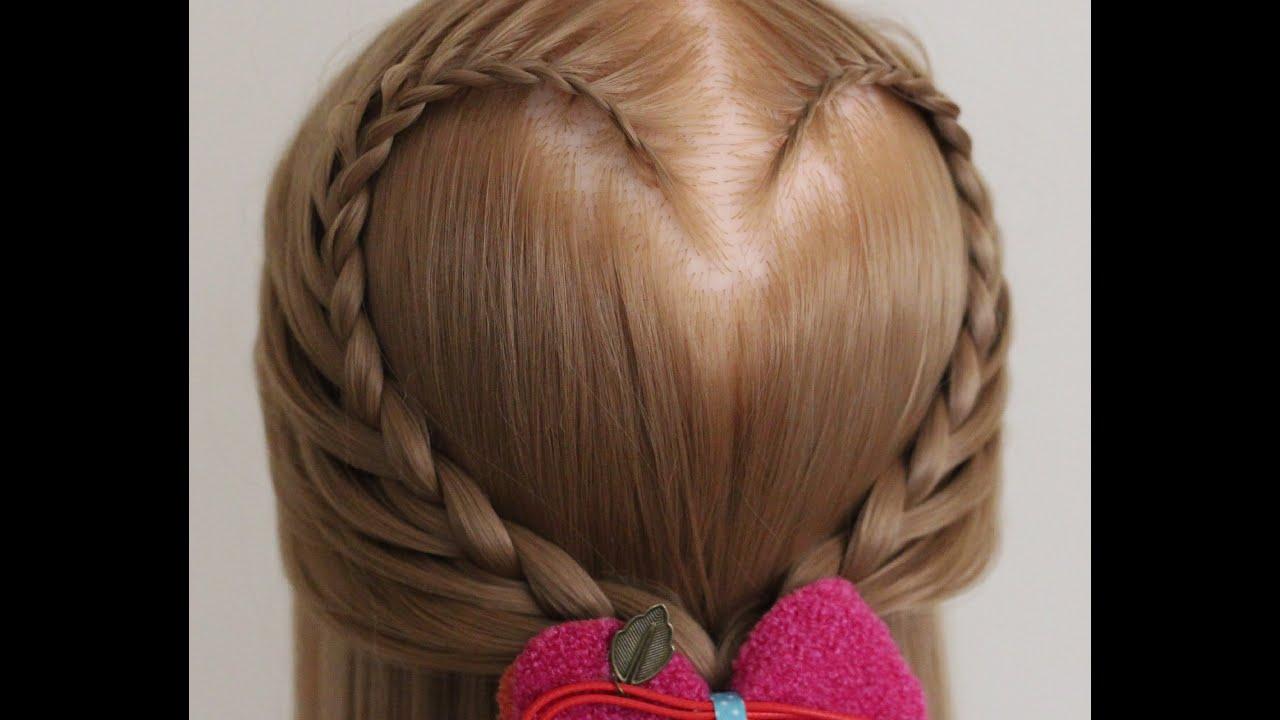 Kalp Şeklinde Saç Örgüsü Modelleri