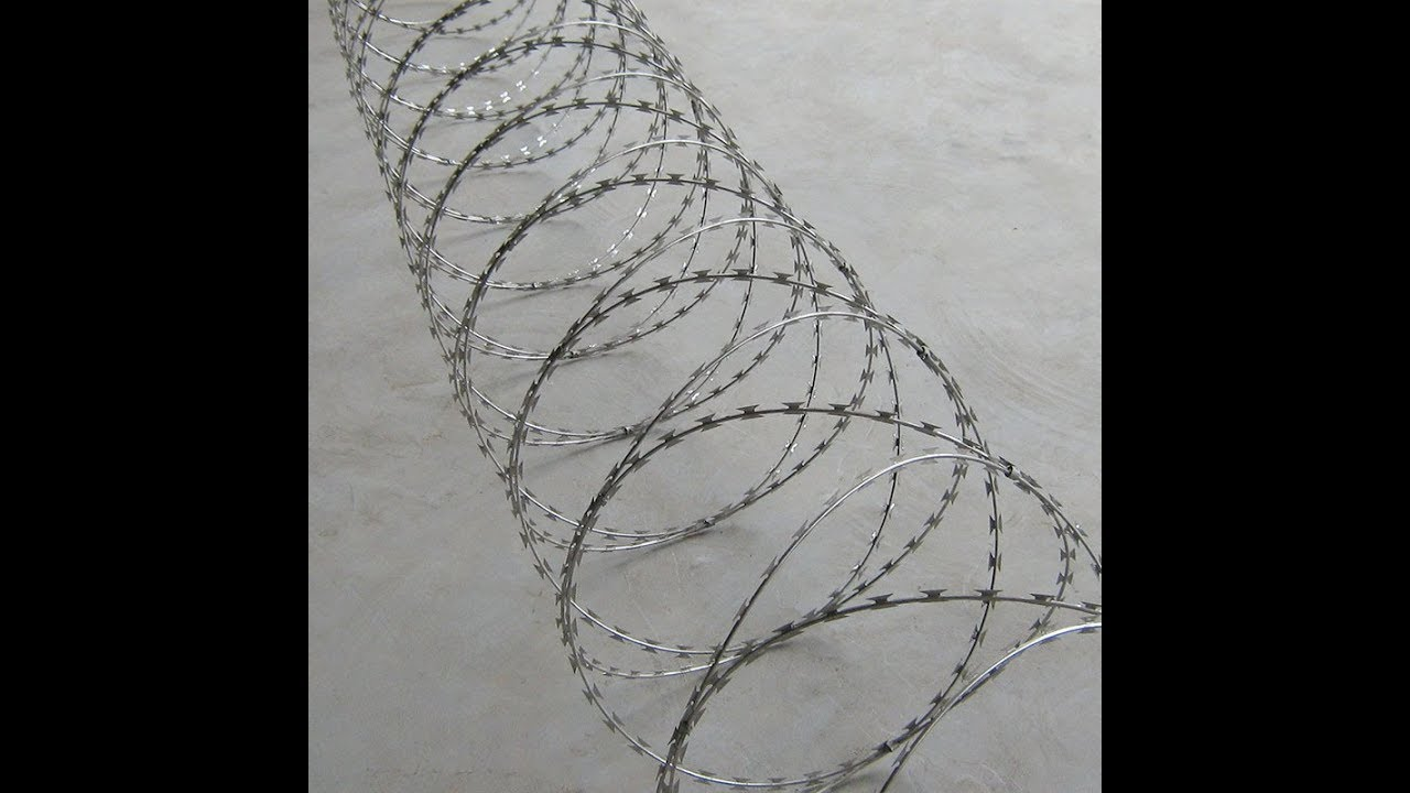 Razor Barbed Wire Concertina Wire Processing by China Manufacturer ...