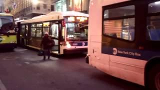 NYCT Bus: Nova Bus LFSA 5891 M102/5263 M101 Buses@Lexington Avenue/59th Street