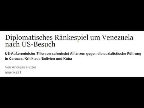 Diplomatisches Ränkespiel um Venezuela nach US-Besuch (amerika21)