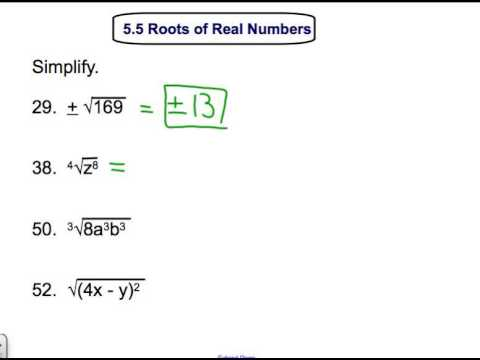 5 5 Roots Of Real Numbers Youtube
