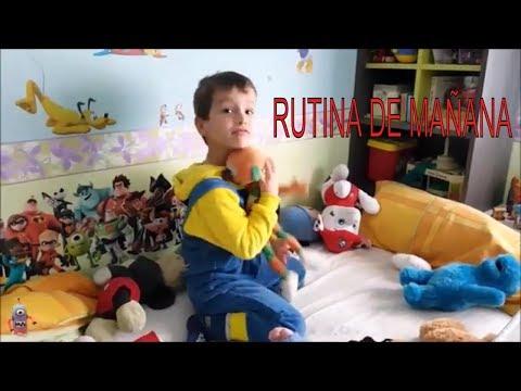 RUTINA MATINAL DE ARES ANTES DE IR AL COLEGIO   JUEGOS Y JUGUETES