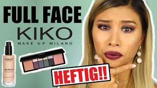 NIEMALS ERWARTET! 😱 FULL FACE only using KIKO Make up! l Kisu live test