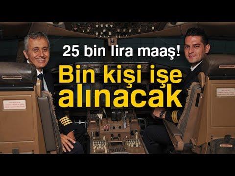 THY, 25 Bin Lira Maaşla Pilot Adayı...