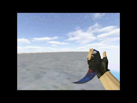 CS:GO Karambit Marble Fade Ice & Fire for CS 1 6 by theBeB