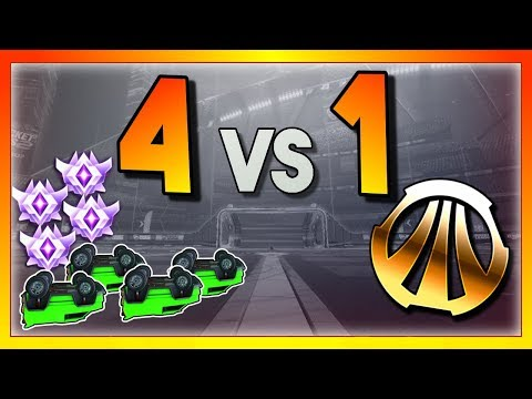 4 Upside Down Grand Champs vs 1 Bronze (Rocket League Showmatch) thumbnail