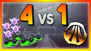 4 Upside Down Grand Champs vs 1 Bronze (Rocket League Showmatch)