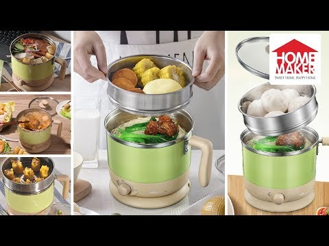 Bear Multi-functional 1 Liter Stainless Steel Electric Cooker / Hot Pot