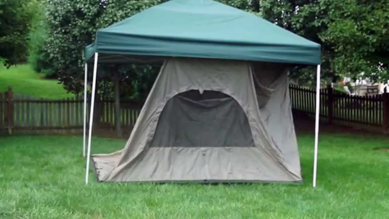 & Standing Room 100 hanging Tent setup in real time - YouTube
