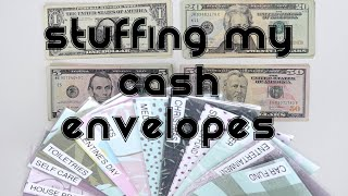 Stuffing My Cash Envelopes February Paycheck #1 | Dave Ramsey Inspired Budget