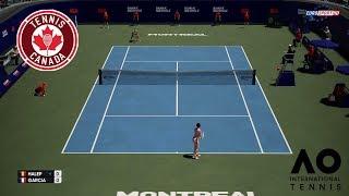 🏸 SIMONA HALEP VS CAROLINE GARCIA | MONTREAL CANADA | AO INTERNATIONAL TENNIS 2018
