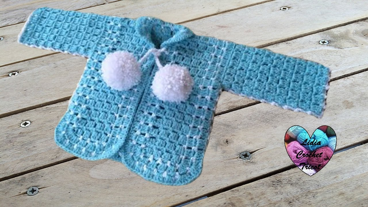 Exceptionnel Gilet bébé crochet 1/2 - YouTube HQ17