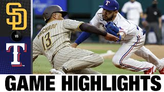 Padres vs. Rangers Game Highlights (4/10/21) | MLB Highlights
