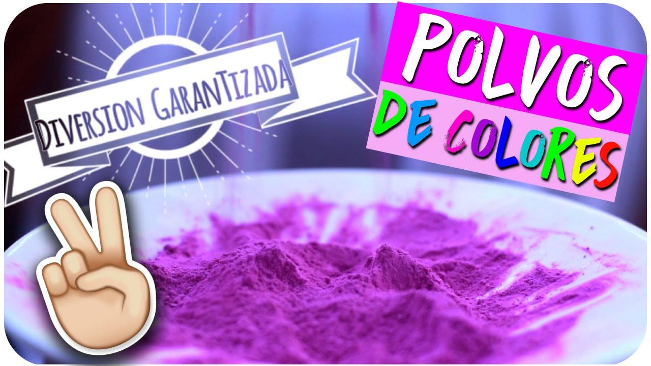 DIY ¿Cómo hacer polvos de colores? - POLVOS HOLI PARA JUGAR | Kika ...