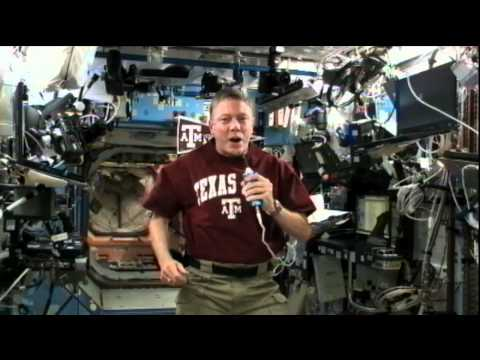 Station Commander Connects With Texas A&M