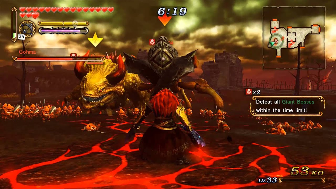 How to defeat gohma in hyrule warriors - Hyrule Warriors Adventure Mode Challenge B 6 Defeat All Giant Bosses Within The Time Limit