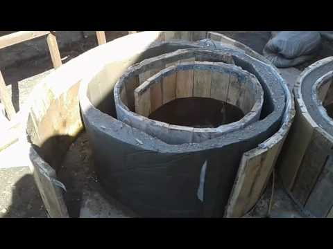 как сделать бетонные кольца своими руками