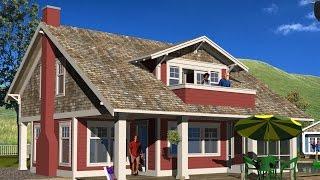 Craftsman Style Cottage Plans - C Series