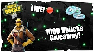 Who will be the first sponsor? 1000 VBUCKS Giveaway! -Fortnite with viewers! | PC | PS4 | EN