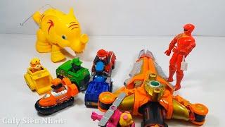 Siêu nhân gao giải cứu chú voi con ma mút và biệt đội chó cứu hộ cá sấu hung ác đồ chơi trẻ em