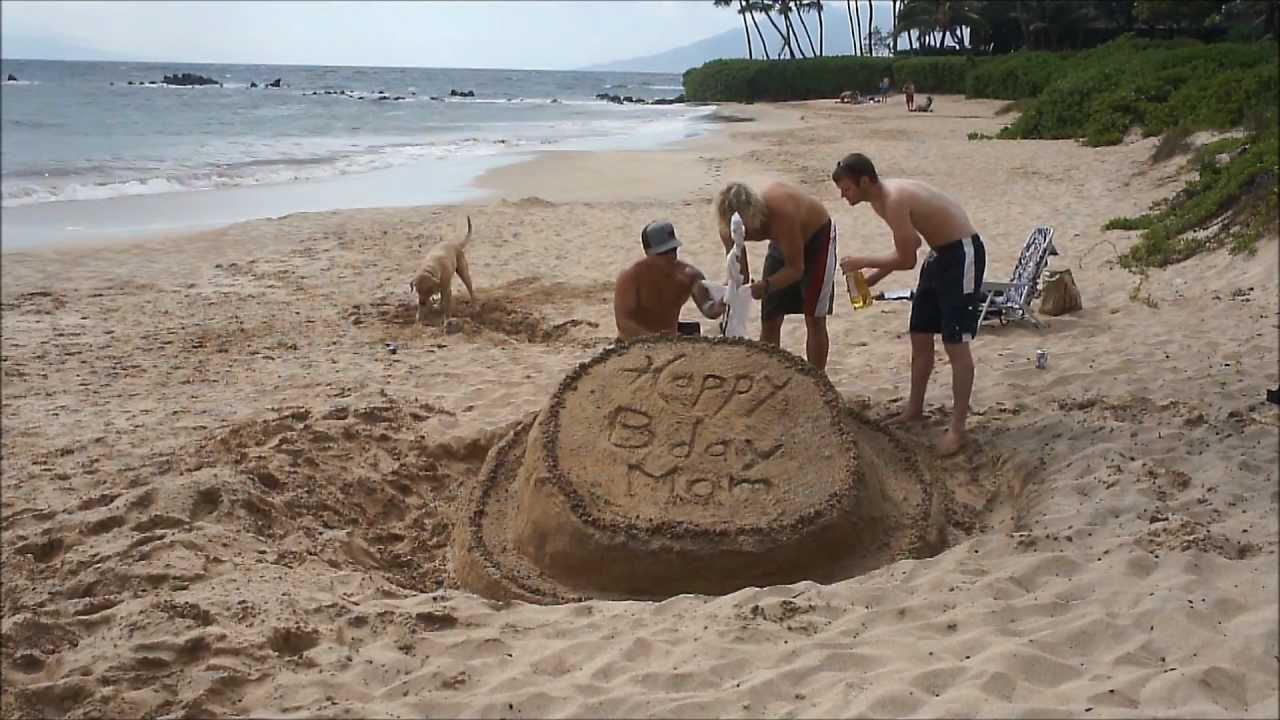 Giant Sandcastle Birthday Cake In Maui Happy Hawaii Birthday Mom