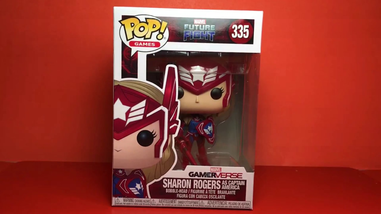 Funko Pop Games Marvel Future Fight Sharon Rogers as Captain America Bobble-Head