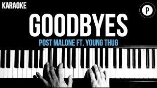 Baixar Post Malone - Goodbyes Ft. Young Thug Karaoke Piano Acoustic Cover Instrumental Lyrics