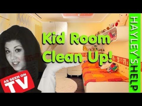 Cleaning Kids Room,  Clean Up, Cleaning & Declutter with Hayley Before & After