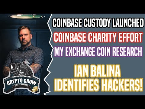 Coinbase Custody Launched - Ian Balina Identifies Hackers! Voice Of Blockchain Chicago