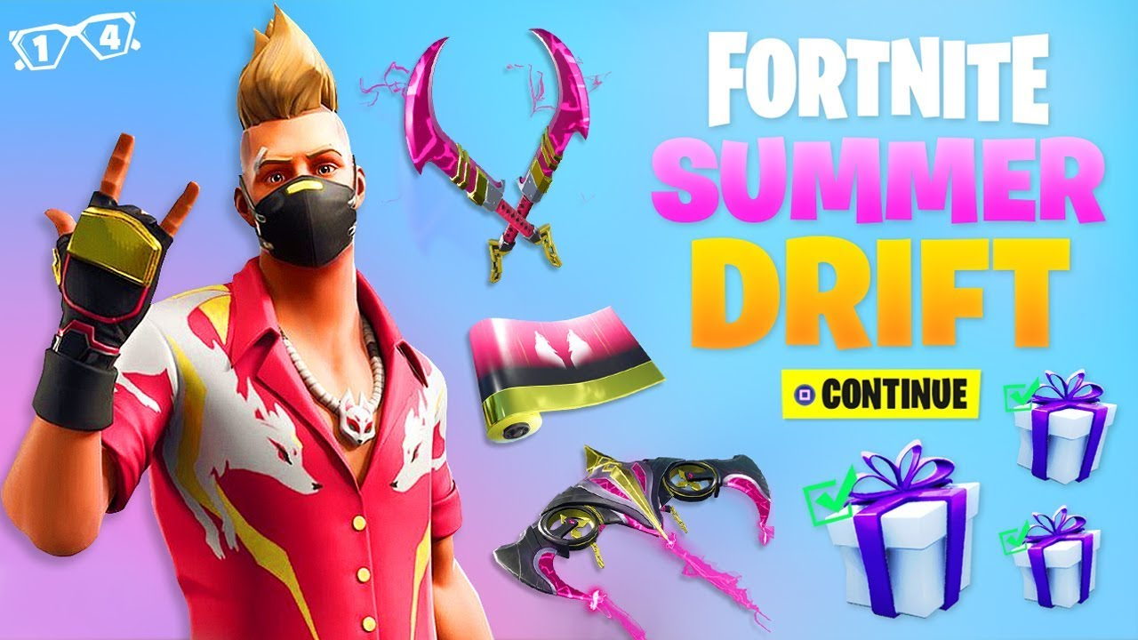 FREE SUMMER DRIFT GIFTS in Fortnite! (14 DAYS OF SUMMER ...